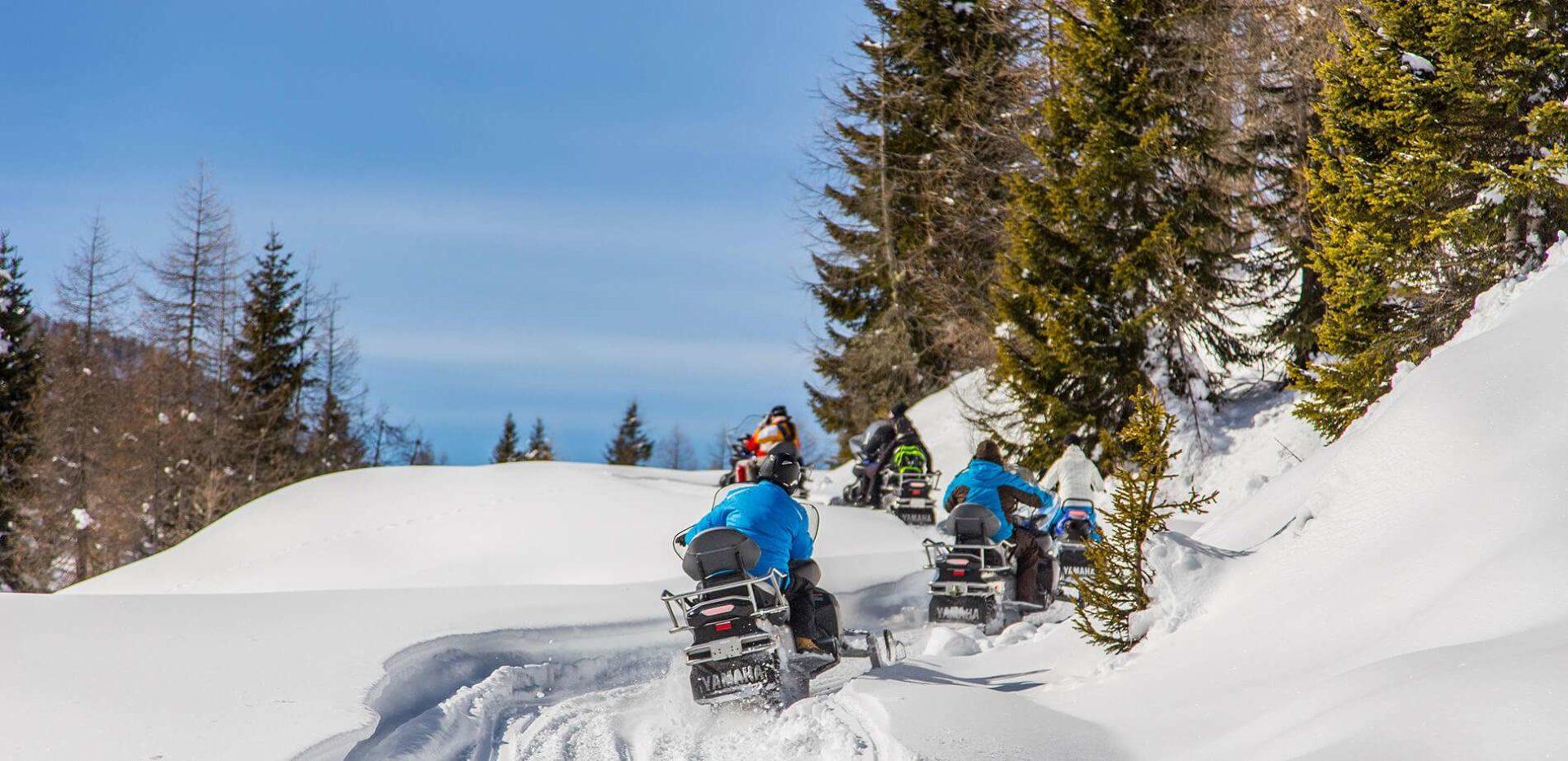 Escursioni in motoslitta Dolomiti