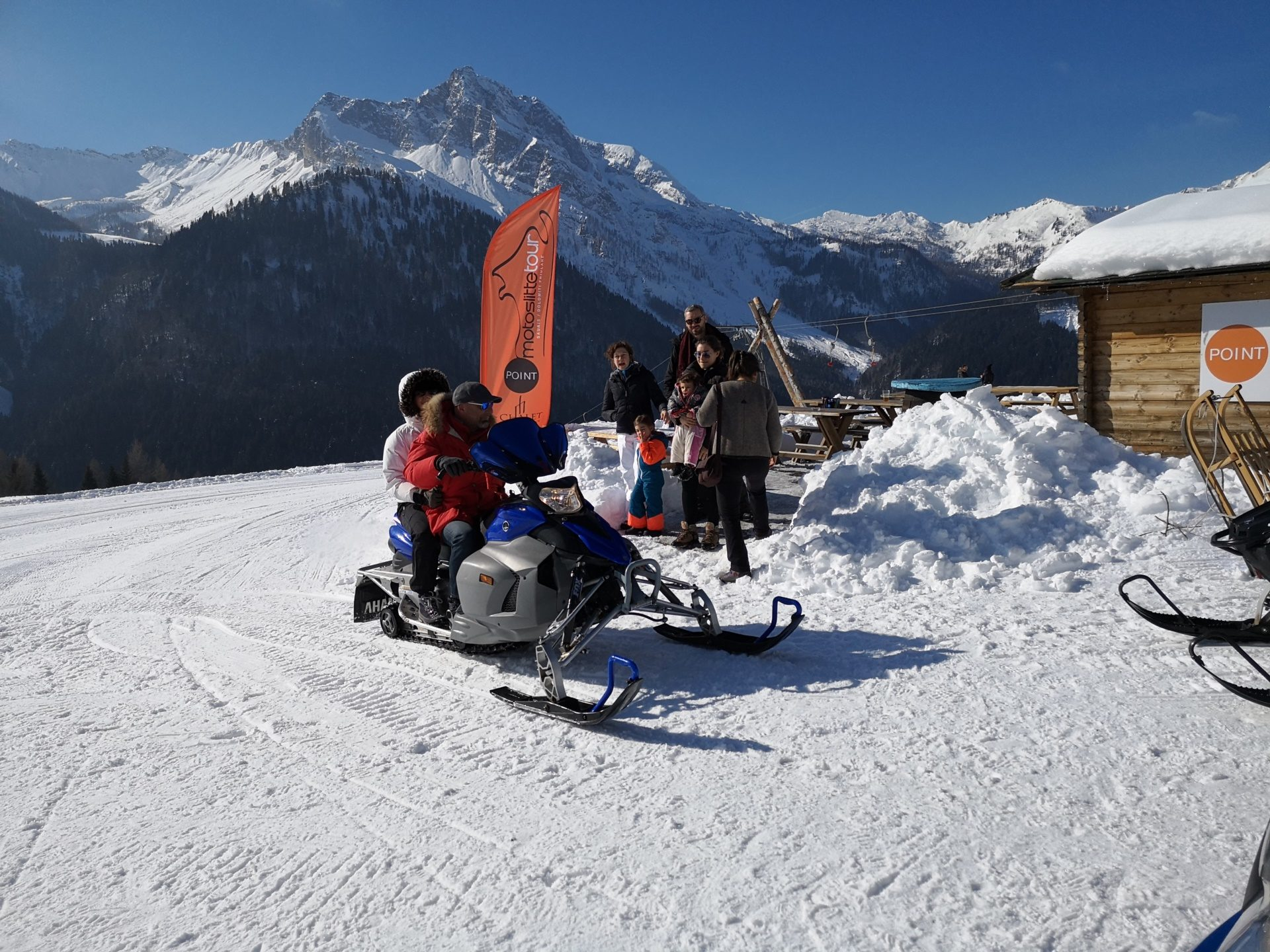 Escursioni in motoslitta Sauris