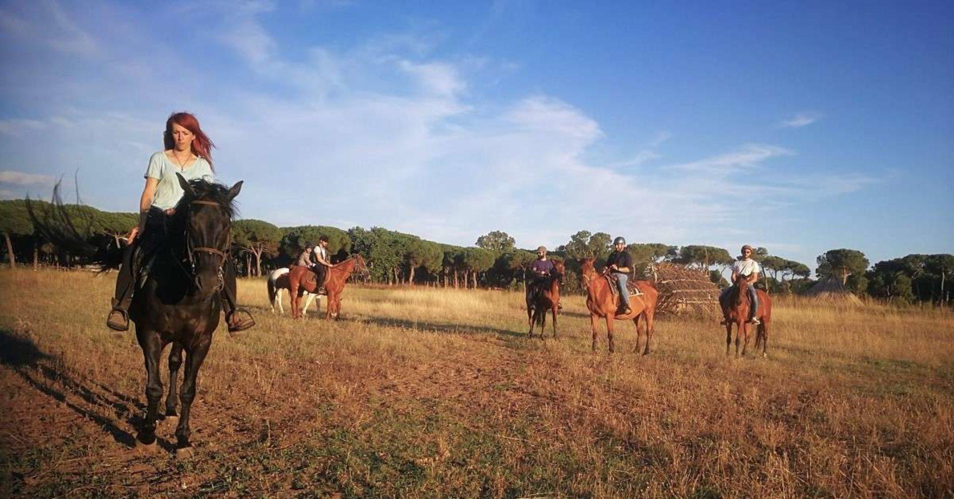 Passeggiate a cavallo Ostia
