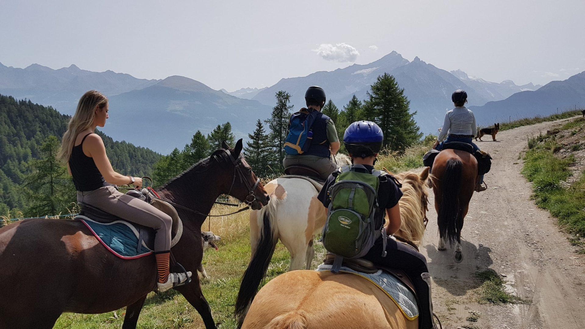 Passeggiate a cavallo Valle d'Aosta