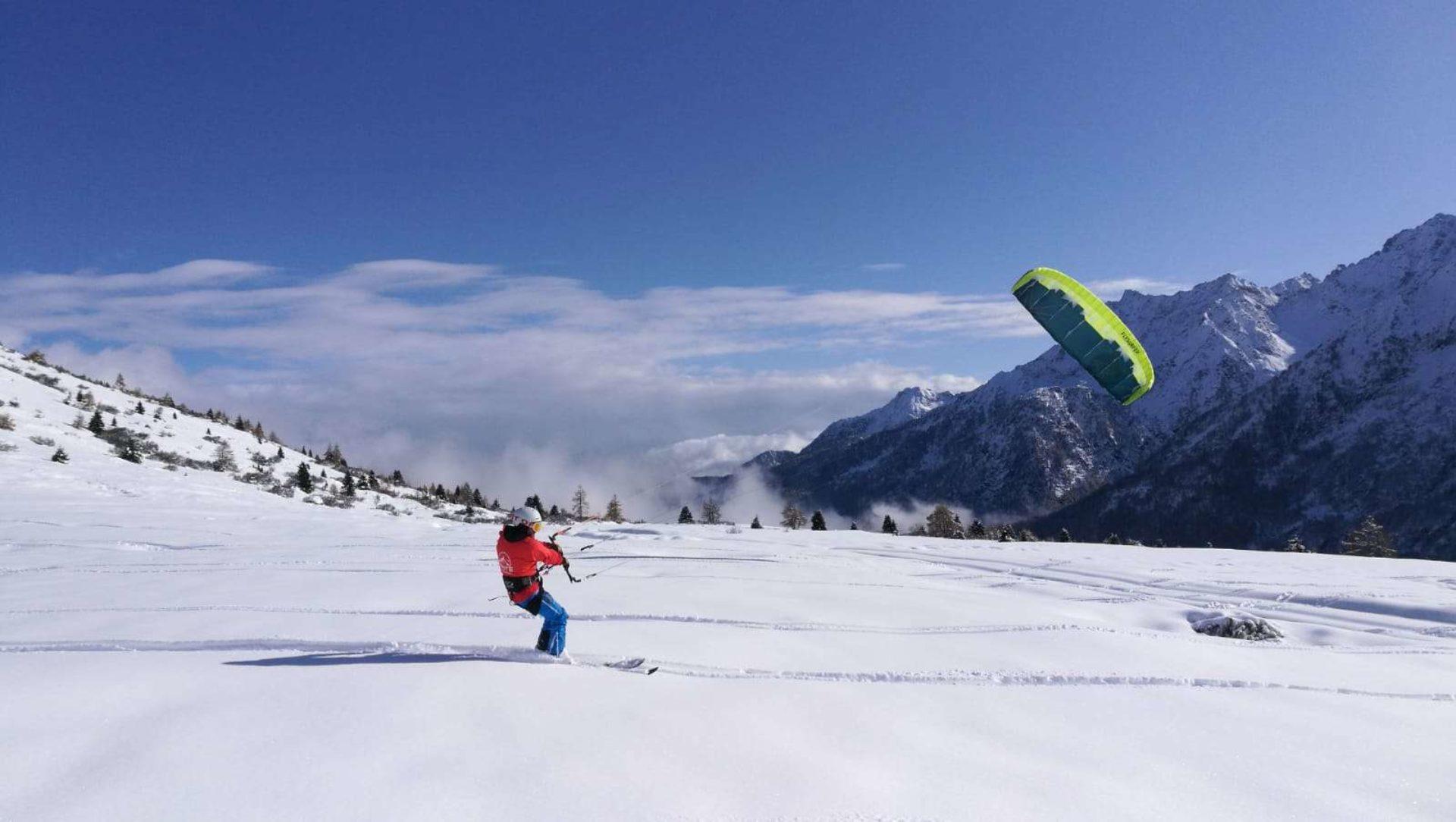 Snowkite Passo del Tonale