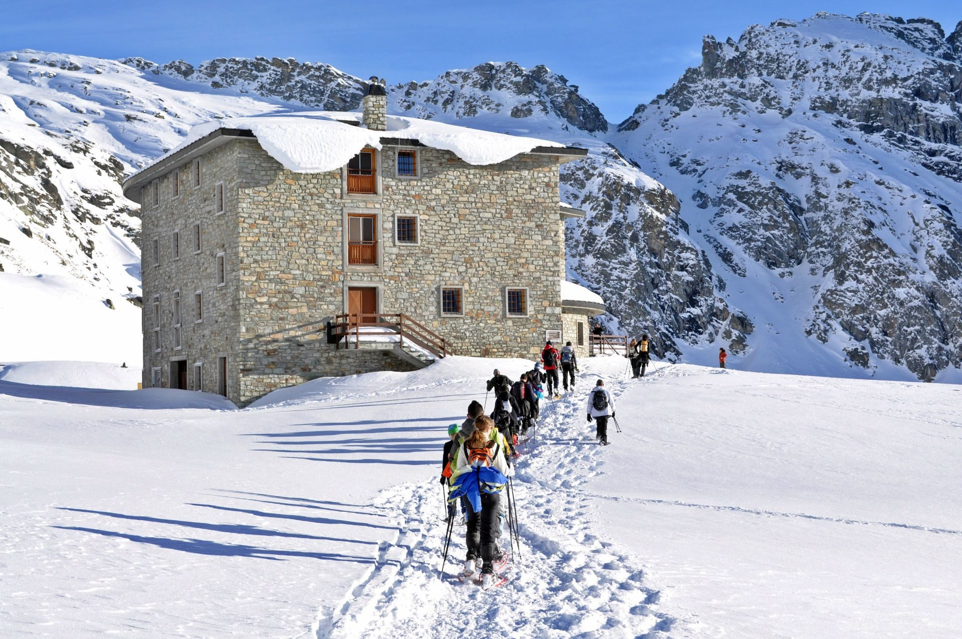 Ciaspolate Monte Bianco